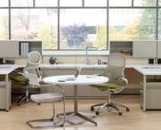 Knoll Small Meeting Tables / Despite being able to work from nearly any location, people still value connecting with others in the office. In a workplace of diminishing space, meeting tables respond to the need for collaborative spaces, creating well-equipped, comfortable spaces outside of the primary workstation.   Small meeting tables are designed for 1-2 people.