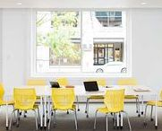 Knoll Training Tables / Easily configured and reconfigured, training tables are ideal for large community spaces, training rooms and classrooms. Accommodate groups of any size with ganging capabilities and complete, yet nimble, cable management capabilities that support one or many.