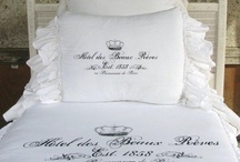Romantic Bedding by Pink Pig / Our bedding at Pink Pig Antiques is a French Inspired bedding featuring romantic duvet covers, shams, pillows & linens in muslin and linen. Available at www.pinkpigwestport.com