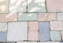 a pastel palette.