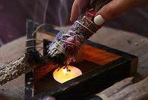Incense / Incense, sage, burning