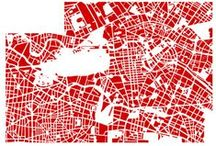 Maps / Representation. Aesthetics. Connective Tissues. Change.  Paths.  Outlines. Knowledge. Destinations. Cities.