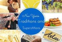 New Years Lucky Foods / New years lucky foods, recipes and menu ideas as well as New Years traditions and superstitions. Beans, fish, pork and greens are said to bring luck, but chicken and lobster should be avoided.  Round foods represent the year coming full circle.  Read more about New Years lucky foods and then browse these great recipes to include lucky foods on your New Years Menu:  http://blog.atlastravelweb.com/travel-news/customs-for-good-luck-in-the-new-year/ Of course these dishes are delicious year round!