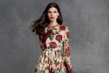 #DGRose / The rose is one of the most symbolic of all flowers and Dolce&Gabbana make it live on beautiful dresses and accessories that will easy take you from summer into fall. #DGROSE Woman Pre-Fall 2015 Collection.