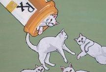 """(≧ω≦) los gatos son lo mejor!  =^.^= cats are the best!  /     """"If cats could talk, they wouldn't.""""  ~ Nan Porter ~    /\ /\   (>'.'<)  ( UU )  / by María   Florencia Manfredi"""