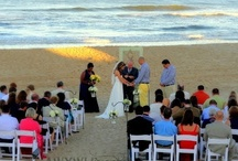Real Wedding: Erin & Justin / Planning/Coordination: AWYWI Events www.anywayyouwantitevents.com; Venue: Beach House at Nags Head, NC; Photography: Dragon Studios www.dragonstudios.com; Catering: Ocean Boulevard Bistro & Martini Bar www.obbistro.com; Ceremony Musicians: Club Violin www.clubviolin.com; DJ: Lone Wolf Productions www.lonewolfproductionsecity.com; Boutonnieres/Corsages: Sugar Snap Events www.sugarsnapevents.com