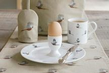 Pheasant Collection / Sophie's perfectly autumnal Pheasant Collection which features Pheasants and Partridges across a range of fine bone china Mugs, Jugs, and a wide variety of textiles for the home including Aprons, Double Oven Gloves, Tea Towels and much more.