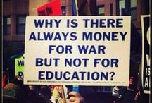 ✩ISSUES ~ CAUSES: The RIGHT to a Public Education ~ AFFORDABLE College Education / by Diane Davis