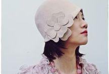 Pink hats by Mademoiselle Slassi