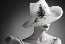 Black and white hats by Mademoiselle Slassi