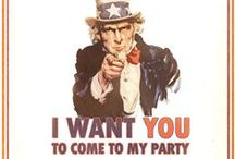 July 4th party/Independence day Party / 4th of july party ideas, fashion, food, decorating, drinks and more