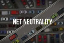✩ISSUES: Net Neutrality / From Wikipedia, the free encyclopedia (Redirected from Network neutrality) Net neutrality (also network neutrality or Internet neutrality) is the principle that Internet service providers & governments should treat all data on the Internet equally, not discriminating or charging deferentially by user, content, site, platform, application, type of attached equipment, & modes of communication. The term coined by Columbia media law professor Tim Wu http://en.wikipedia.org/wiki/Network_neutrality