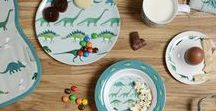 Dinosaurs / Sophie Allport's Dinosaur collection is inspired by her boys' love of these prehistoric animals. Gift inspiration for Dinosaur fans young and old! The sage blue Dinosaur design features the Diplodocus, Stegosaurus, Triceratops, flying Pterodactyls and the famous T-Rex! There's plenty of gift ideas for children from Dinosaur backpacks and Dinosaur melamine to fun Dinosaur mugs.