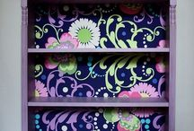 DECOUPAGED FURNITURE / Ideas for decoupage on furniture