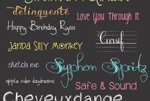 FONTS / I love fonts