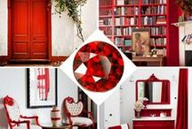 COLOR: Red Home Decor / Red Home Decor Ideas and Inspiration.   Red is a color of power. This passionate hue makes a bold statement in a room. Red also brings a lot of energy to a space so keep it in rooms where you plan on entertaining not relaxing.  / by Carpet One