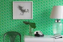 COLOR: Green Home Decor / Green Home Decor Ideas and Inspiration  Green is the color of nature. It symbolizes growth, harmony, and freshness. It is the most restful color for the human eye and suggests stability and endurance.  / by Carpet One