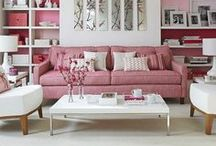 COLOR: Pink Home Decor / Pink Home Decor Ideas and Inspiration  Pink can be soft and feminine or vibrant and energetic.  / by Home Decor Inspiration by Carpet One
