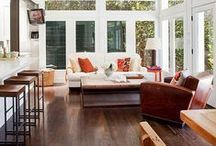 FLOOR: Hardwood / Hardwood has a character that really shines through ... and there's a hardwood for every look — from smooth, glossy traditional strips to wide, weathered planks. Learn more at http://www.carpetone.com/hardwood-category / by Carpet One