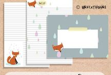 STATIONERY / Printable stationery