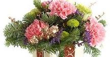 Winter and Christmas Flowers! / Winter flower arrangements, bouquets Christmas bouquets, Christmas flowers, Winter Occasion flowers