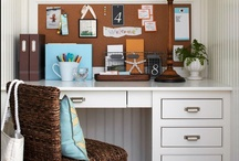 Small Office Spaces & Creative Workspaces / a collection of inspiration for creating small office spaces, or creative workspaces that will inspire, and provide a comforting place. / by Debra Beach