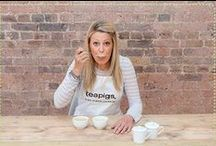 Louise the tea taster / We are proud to have our very own fully trained tea taster Louise! She uses her top tea tasting skills to select the best tea and blends for teapigs