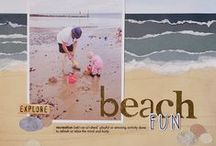 Scrapbook - Beach / Page ideas for pictures at the beach. http://www.creativememories.com/user/dayna / by Yank in Australia .