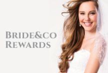 ♥ Bride&co Rewards ♥ / We want you to 'share the love' on your wedding day, so Bride&Co is offering its customers a range of incredible rewards, brimming with all sorts of savings for your whole bridal party.