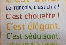 Français / O idioma charmoso....chique.....que Je adore!