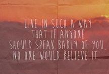Words of Advice.  / by Elizabeth Elisalde