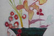 {Flowers- peintures de fleurs- florales- pinturas de flores} / Flower paintings from Canadian Artist Sandrine Pelissier