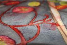 {Painting demos- démos de peinture en ligne- demostraciones de pintura} / Step by step painting tutorials and demos in acrylic, watercolor and mixed media