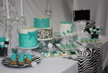 Inspiration - Zebra & Turquoise / by Posh Productions Catering and Events Orange County California
