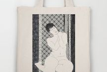 {Society 6 and Red Bubble stores} / Items for sale on Society 6 by Sandrine Pelissier