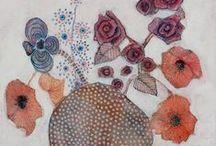 {Available Flower Paintings - peintures de fleurs par Sandrine Pelissier-pinturas de flores} / Flower paintings by Canadian artist Sandrine Pelissier