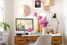 Home Office / Stylings, decor and organization/productivity ideas for your home office, be it large or small.
