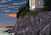 vintage travel posters / I want to do a wall of these in the office of places we have traveled to.