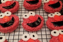 Elmo Birthday Party :) / All the Fun stuff for My sons First Birthday Party! some ideas I got from other Pinterest users and some all on my own :)
