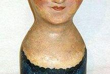 Bonnet Babies / Antique millinery heads and bonnets