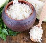 fermented foods + gut health / Fermented food info + recipes.