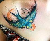 Искусство тату / Живопись на холсте человеческого тела