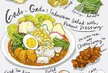 Food Illustration / Paint, Draw, Journal, Eat