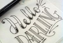 Design, Lettering, & Type / Elements of design, hand lettering, typography.