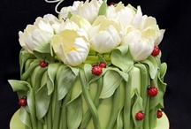 Cake -Pastillage Flowers / over the top sugar flowers / by pc brown