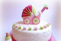 Cake- Babies / every day cakes, special cakes, sculpted cakes for babies to one year olds, showers, etc. / by pc brown