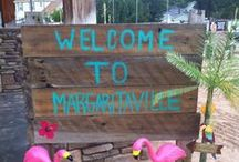 Margaritaville Party / I recently orchestrated a super fun party for a client - our 1st Annual Margaritaville Beach Party. (I stole lots of great ideas from Pinterest!)