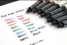 Off Black Inks / Off black inks are the perfect solution for those seeking a perfect blend of black and color. / by JetPens