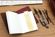 Travelers & Adventurers / Adventurous souls can never stay in one place for long. They live for the thrill of travel: exploring new places, trying exotic foods, and getting lost in foreign cities. Since they are often on the go, travelers streamline their baggage down to bare essentials: compact items that are reliable, no matter where in the world they go. / by JetPens