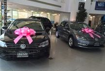 Breast Cancer Awareness Month / Our Volkswagen showroom and the Lindsay VW team is honoring Breast Cancer Awareness Month in a big, pink way!  http://www.lindsayvolkswagen.com/
